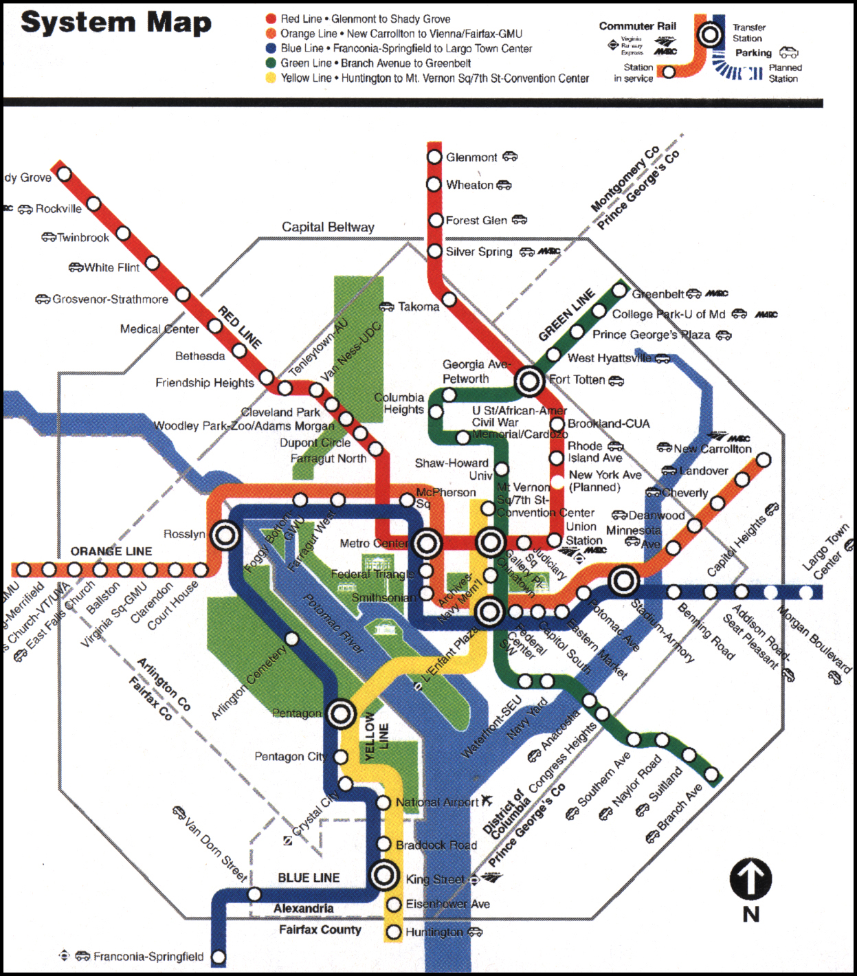 Us Map Washington Dc Washington Dc Map Home The Old Print Gallery - Washington dc map with metro stations
